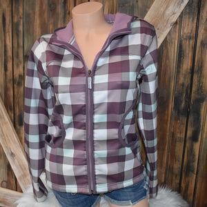 Burton Plaid Fleece Lined Hooded Jacket